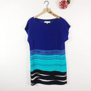 [TRINA TURK] 100% Silk Breene Dress in Surf